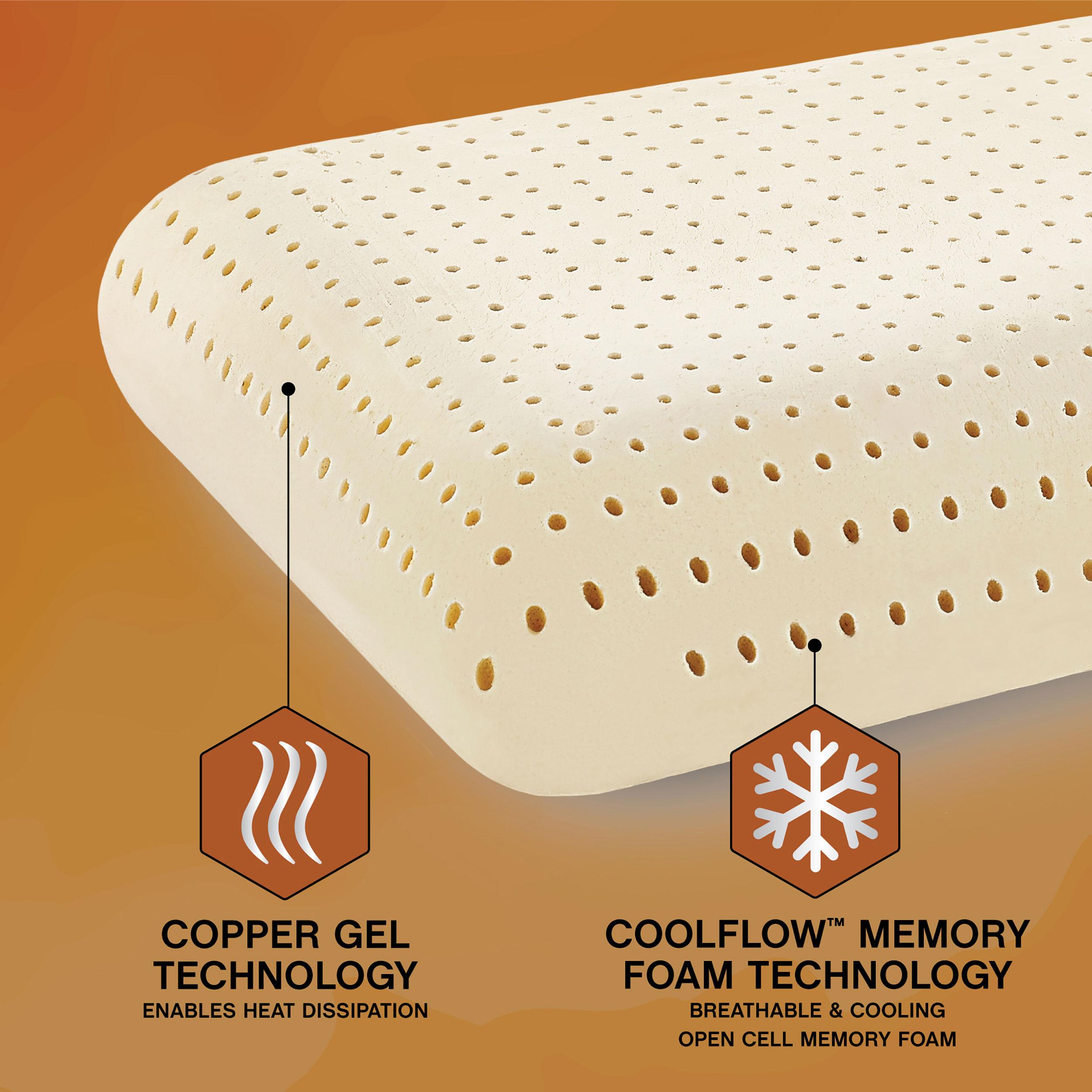 Great Sleep 174 Copper Gel Coolflow Memory Foam Pillow