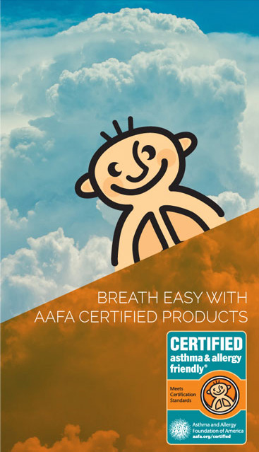 asthma & allergy friendly Certification - Great Sleep