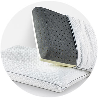 Silver Gel CoolFlow™ Memory Foam Pillow