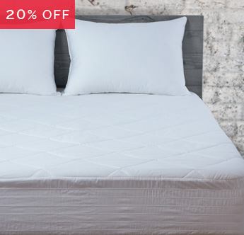 Save 20% on Mattress Pads & Toppers
