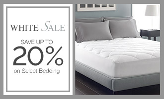 White Sale - Save Up to 20% on Select Bedding
